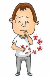 Cartoon Man with Butterflies